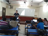 With the students during summer training on Android & Java in 2015